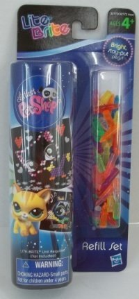Hasbro Lite-Brite Littlest Pet Shop Refill (New Version) with Bright Stay-Put Pegs - Littlest Pet Shop Sheets