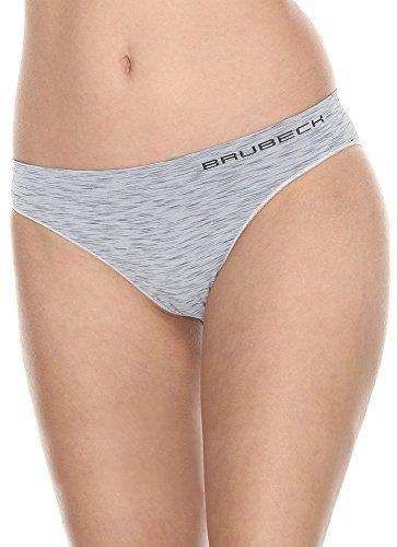 Brubeck® bi100803x Set Fusion Bikini slip donna | funzionali | senza cuciture | 2strati tessuto | ad asciugatura rapida grigio