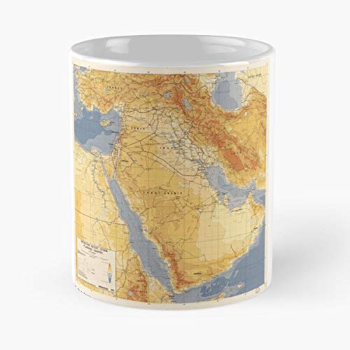 Desert Storm Operation Gulf War Maps - 11 Ounce For Coffee, Tea, Cocoa And Mulled Drinks, The Best Gift Holidays.