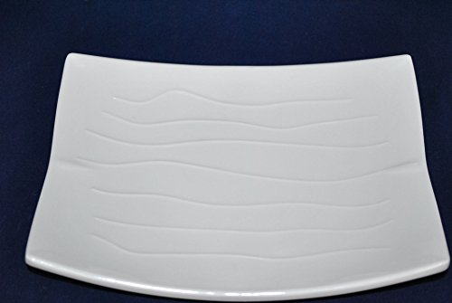 Lucky Star Melamine Rectangular Dinner Serving Plate White 12-pcs per case ( : oblong dinner plates white - pezcame.com