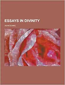 john donne essays divinity John donne's standing as a great english poet, and one of the greatest writers of   he pointedly declines to take the girl for an emanation of the divine spirit,.