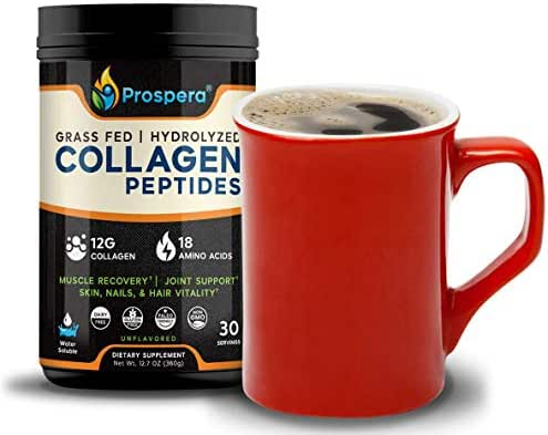 Keto Friendly Collagen Peptides Powder - Made for Crossfit - Premium Workout, Anti aging Collagen and Amino Acids - Joint Health - Promotes Hair Growth, Healthy Skin and Nails - Gluten Free - 30 Doses