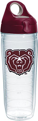 Tervis 1232349 Missouri State Bears Logo Insulated Tumbler with Emblem and Maroon Lid 24oz Water Bottle Clear
