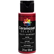 Plaid Delta 04005 Ceramcoat Select Multi-Surface Paint, 2 oz, Fire Red