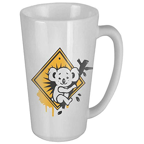 Koala Road Sign Graffiti Girls Wife Funny Coffee Mug Cool Coffee Tea Cup 17 Ounces Perfect Gift for Family and Friend