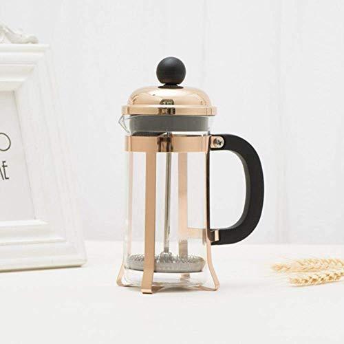 XIAOWEI Prensa Francesa Cooper Cover Cafetera Émbolo Tetera Percolador Filtro Prensa 350ML Tetera de café Tetera de…