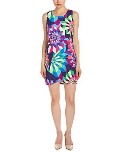 Julie Brown Womens Silk Shift Dress, 10, Blue