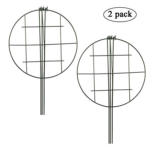 - Plant Grid,Grow Through Plant Support,Okngr 2 Pack Grow Through Flower and Plant Supports with 3 Legs for Flower Support, 12