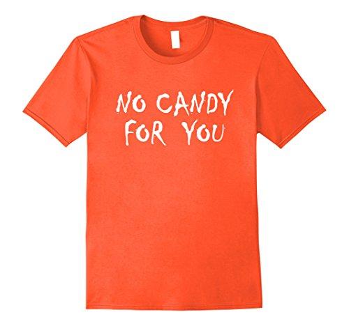 Mens No Candy For You Anti Halloween T-Shirt 2XL Orange - Teenage Halloween Ideas