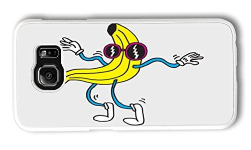 Samsung S6 Case BANANA WOBBLER PC Hard Plastic Case for Samsung S6 Whtie