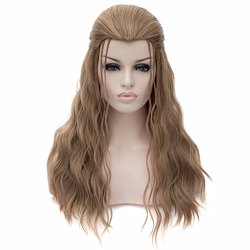 New Hot Adult Marvel The Avengers Deluxe Thor Long Curly Wig Costume Brown Wigs