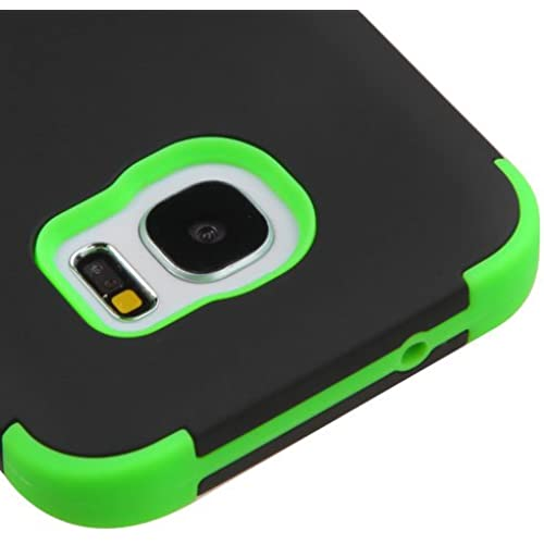 Samsung Galaxy S7 G930 Case, Kaleidio [TUFF] Shockproof Hybrid Dual Layer Protective Cover [Includes a Overbrawn Prying Tool] [Black/Green] Sales