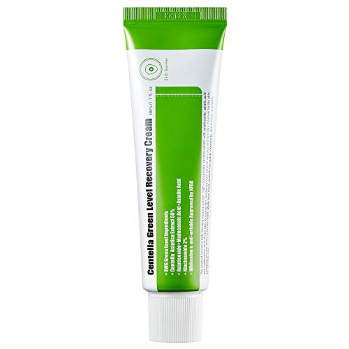 (PURITO Centella Green Level Recovery Cream 50ml/ 1.7 fl.oz Cica face cream, Sensitive skin, Age Spots, Skin Tone, Firming, soothing,)
