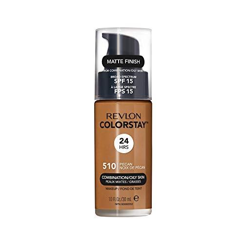 Revlon ColorStay Liquid Foundation For Combination/oily Skin, SPF 15 Pecan, 1 Fl Oz (Best Powder For Combination Skin)