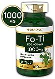Carlyle Fo-Ti Root 1000 mg 180 Capsules High Strength He-Shou-Wu Non-GMO, Gluten Free