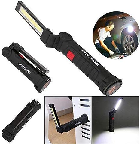 Naranja COB Recargable Linterna LED ABS Hand Pocket Pen Luz de Trabajo con Clip Giratorio magn/ético Sugoyi Luz de Trabajo