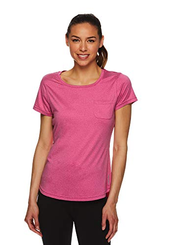 Head Ladies Tee - HEAD Women's Short Sleeve Workout Scoop Neck T-Shirt - Performance Tennis Crew Neck Activewear Top - Lead SS Very Berry, Medium