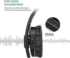 dodocool Active Cancelación de Ruido Auriculares Bluetooth con Micrófono Hi-Fi Deep Bass Cascos Inalámbricos y con Cable, Plegables para PC/teléfonos celulares/TV: Amazon.es: Electrónica
