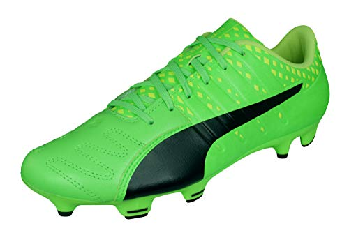 PUMA Evopower Vigor 3 Leather FG Mens Soccer Boots-Green-10.5