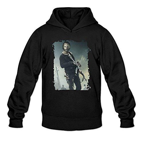 MARY Men's The Walking American Series Dead Comic Rick Hoodie Sweatshirt Black - Costume Jason Statham Transporter