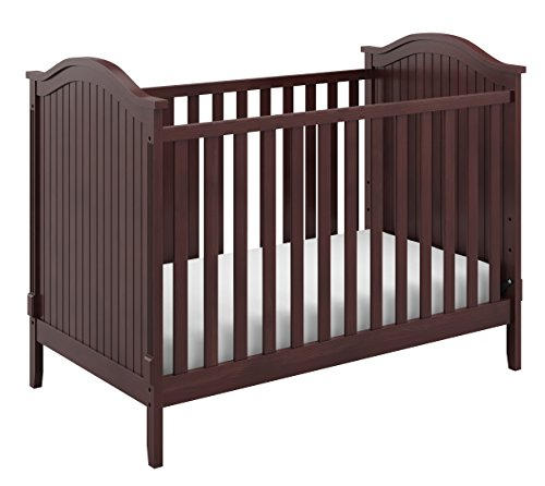 Storkcraft Monterey 3-in-1 Convertible Crib, Espresso Easily Converts to Toddler Bed & Day Bed, 3-Position Adjustable Height Mattress