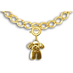 14k Gold Maltese Puppy Charm for Charm Bracelet by The Magic Zoo