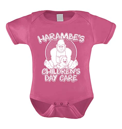 HAASE UNLIMITED Harambe's Children Daycare Infant Bodysuit (Pink, Newborn) ()