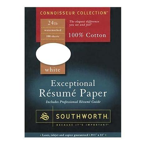 o southworth company o resume paper cotton fiber 24 lb 8 - Resume Paper Amazon