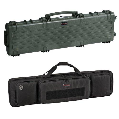 Explorer Cases 13513 Gun Case with Padded Gunbag, Olive Green, Large