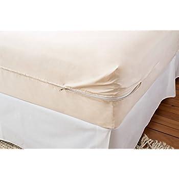 magnolia organics barrier cloth mattress cover twin natural