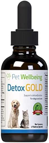 Pet Wellbeing Detox Gold for Cats - Natural Support for Immune System Detox for Felines - 2oz (59ml)