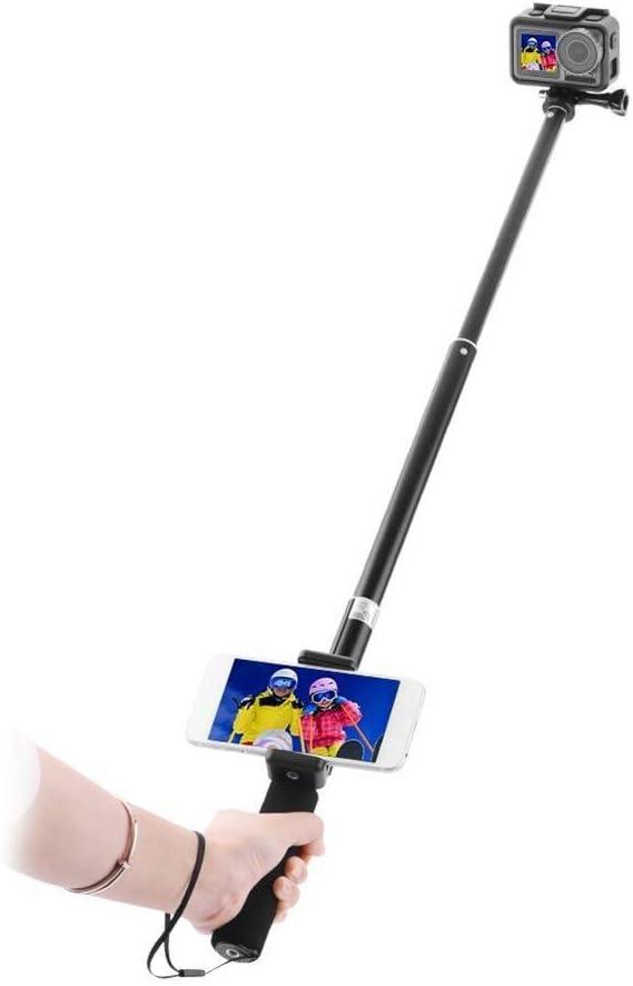 P/ôle t/él/éphone Mobile Selfie B/âton R/églable Portable Alliage Daluminium Portable Non Slip L/éger Anti-Transpiration Durable Noir Extension Titulaire Stable for DJI Osmo Cam/éra daction Accessoires de