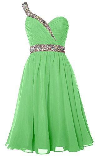 Homecoming Short Dress Gown MACloth Prom Party Formal Shoulder One Gorgeous Mint nqUq6xBHX