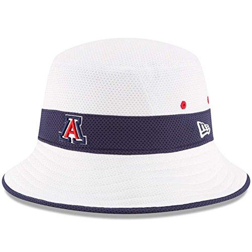 Bucket Wildcats (Arizona Wildcats New Era Training Bucket Hat - White)