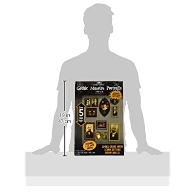Gothic Mansion Portraits Scene Setters | Halloween Decorating Kit: Toys & Games