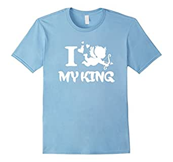 Men's CUTE KING AND QUEEN SHIRT - Matching Couple Him Her 2017 3x 3XL Baby Blue