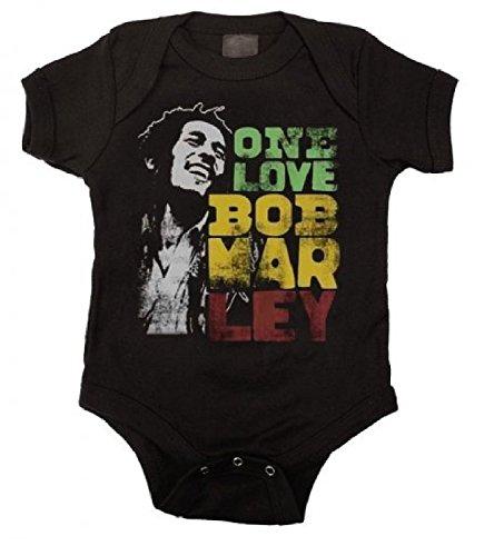 Bob Marley One Love - Catch A Fire Unisex Baby Bodysuit (6 Months) ()