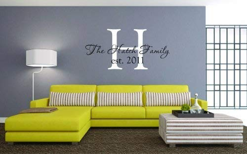 Personalized Monogram Wall Decal - Last Name Decal - Family Name Wall Decal - Vinyl Lettering