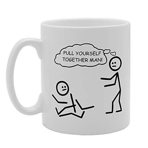 Pull Yourself Together Man Novelty Gift Printed Tea Coffee Ceramic Mug