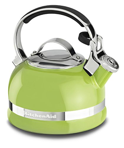 KitchenAid KTEN20SBKL 2.0-Quart Kettle with Full Stainless Steel Handle and Trim Band - Sunkissed Lime