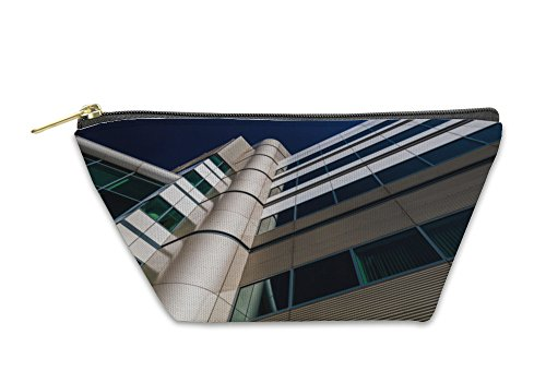 Gear New Accessory Zipper Pouch, Modern Architecture In The Inner Harbor Of Baltimore Maryland, Large, - Inner Shops Baltimore In Harbor