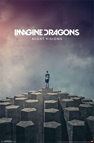 Cartoon world Imagine Dragons Night Visions Poster 20x30' -