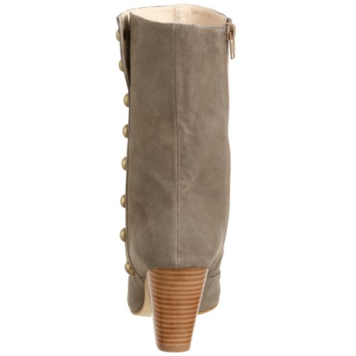 Stud Women's Boot ALL Taupe Suede BLACK ptqxwP1