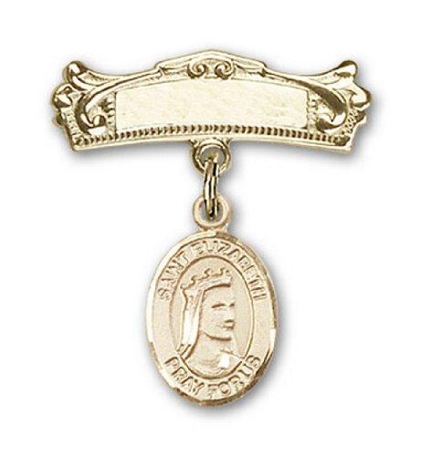 Icecarats Or Bijoux De Créateurs Rempli R. Elizabeth De Charme Hongrie Arqué Broches Badge 7/8 X 3/4