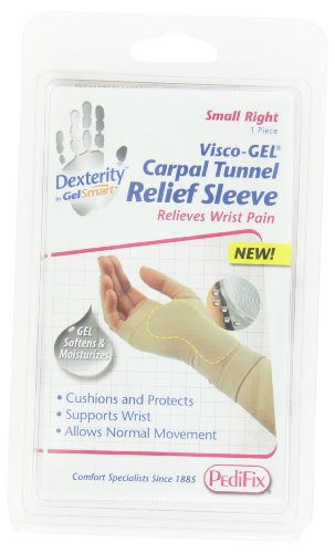 Gel Moleskin Pedifix Visco (PediFix Dexterity Visco-gel Carpal Tunnel Relief Sleeve, Small Right)