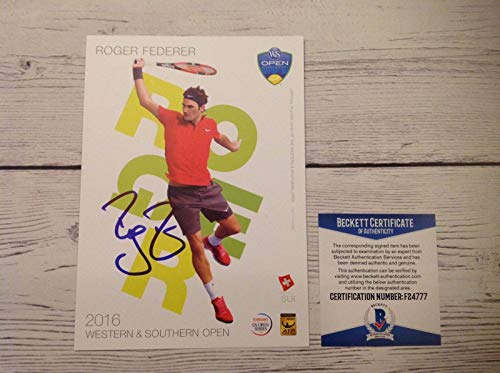 72af194c2bf Roger Federer Signed Autographed 5x7 Player Card Beckett BAS COA f -  Beckett Authentication - Autographed Tennis Cards