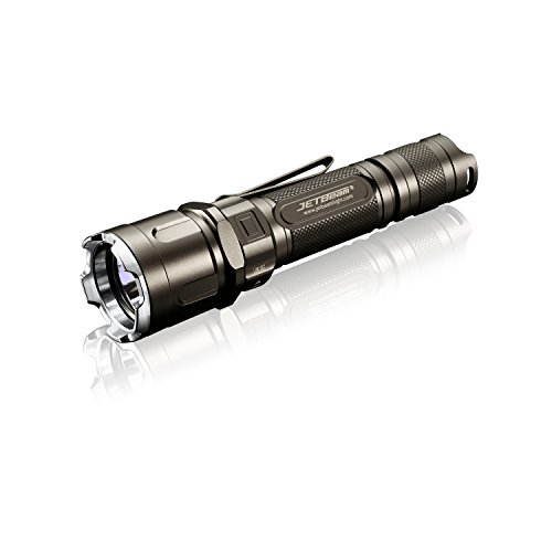 JetBeam IIIM-PRO Tactical LED-Taschenlampe Kit, kompatibel mit 1x18650 / 2xRCR123A, Inkl. L'LYSCOLORS 18650 Akku
