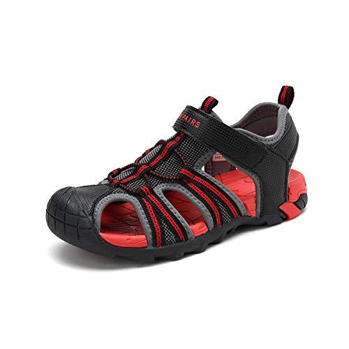DREAM PAIRS Toddler 170813-K Dark Grey RED Outdoor Summer Sandals Size 10 M US Toddler