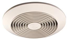 Broan 673 Vertical Discharge Utility Fan, 6-Inch 60 CFM 4.5 Sones, White Plastic Grille