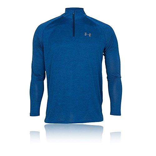 Under 4 Manches T Tech Homme Bleu Longues 1 shirt Armour Marocain Zip rgq0wnRr